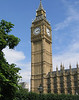 The next day we took a guided tour of the ornate Parliament building. The tour was very good, taking us through the House of Commons and the House of Lords, and explaining how the government works. The famous clock tower, Big Ben (shown), is a symbol of London. 8/2/06.