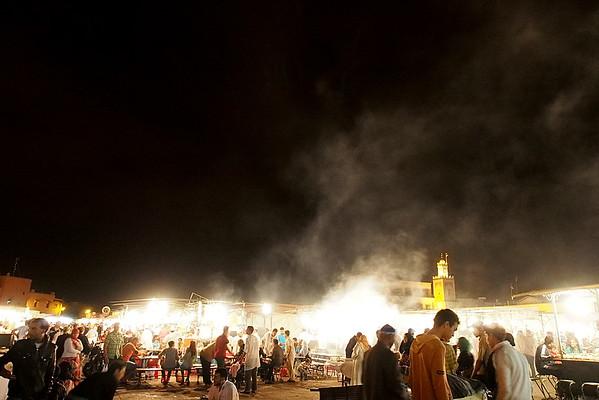 food stands on Gma el-Fna | Marrakech