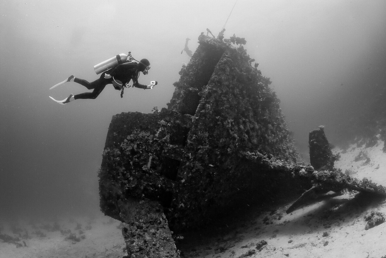 The stern section of the Carnatic. Sha'ab Abu Nuhas, northern Red Sea, Egypt. 2012