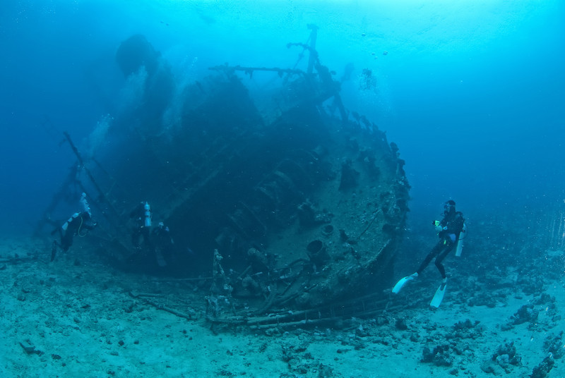 The stern section of the wreck of the Ghiannis D. Northern Red Sea, Egypt. 2012