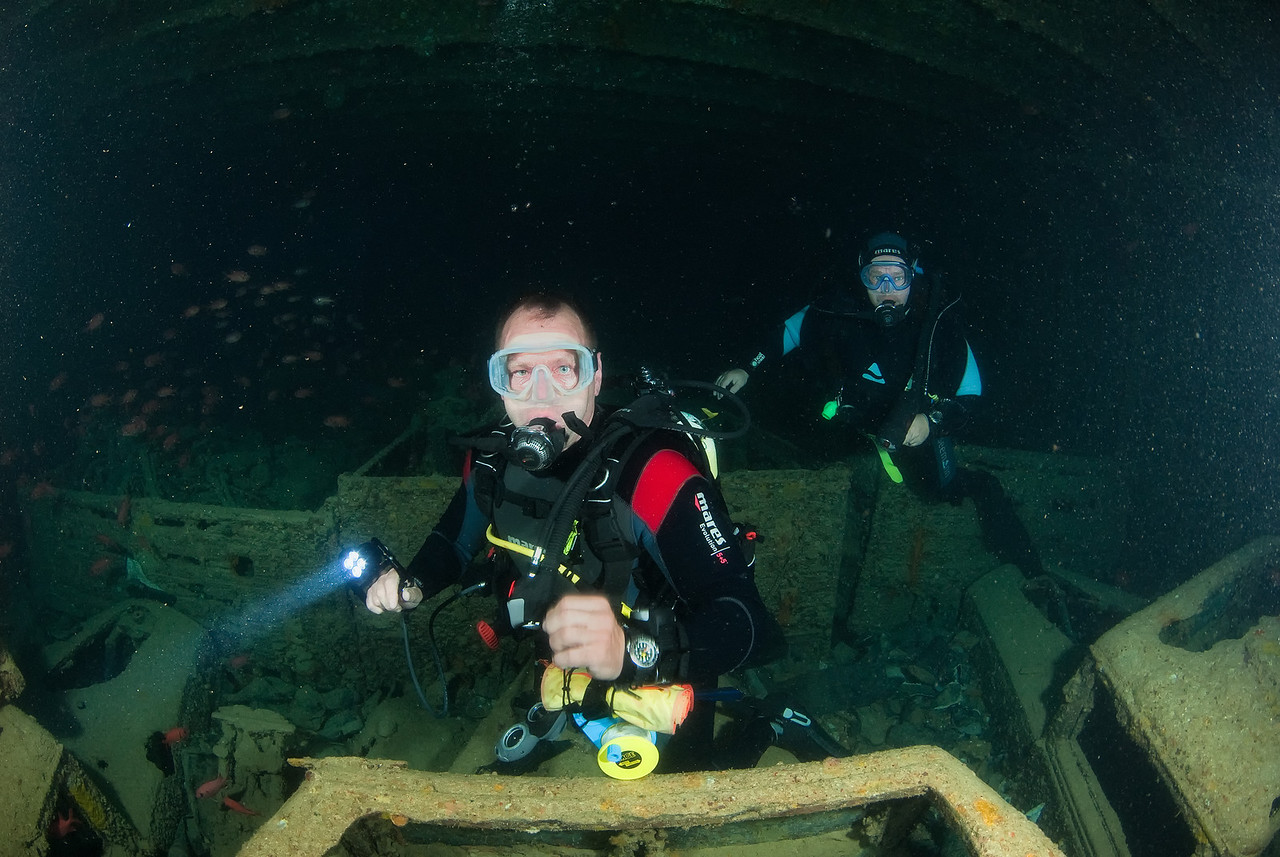 My new diving buddies, Thistlegorm, northern Red Sea, Egypt. 2012