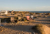 Our camp on Punta Piedra, San Ignacio Lagoon, Baja Sur, Mexico during sunset.<br /> <br /> March 2010.