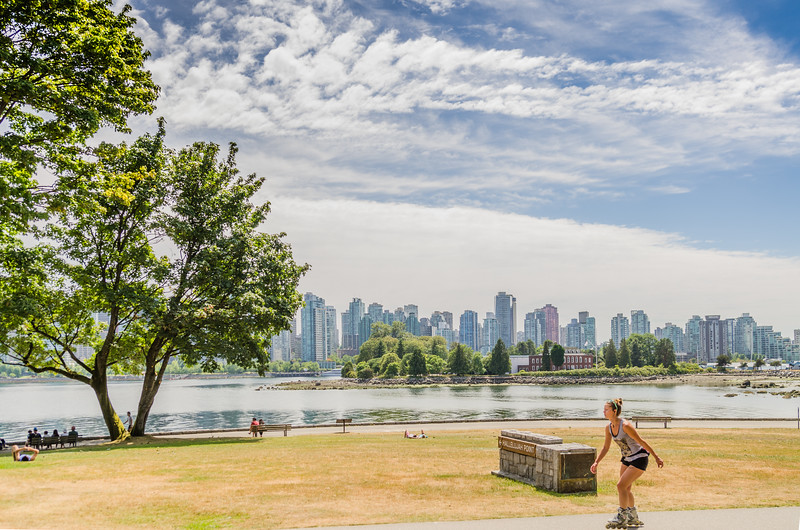 The View of the city from Stanley Park