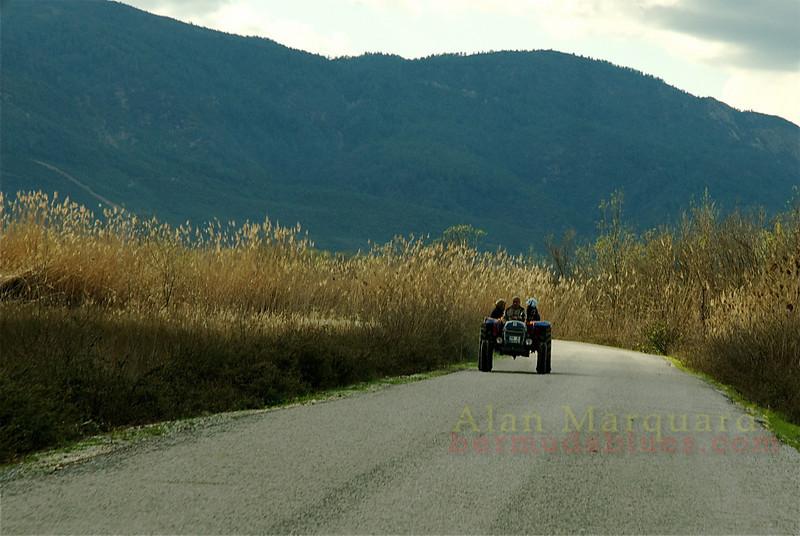 The drive home. Koycegiz - Dalyan, Turkey.