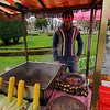 A vender outside of the Topkapi Palace, Istanbul, Turkey.