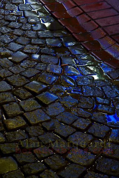 Stone pavers, Istanbul, Turkey.