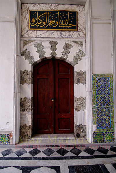 One of many of the doors in the Topkapi Palace, Istanbul, Turkey.