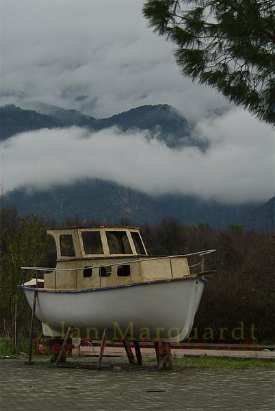 A small boat. Koycegiz-Dalyan, Turkey.