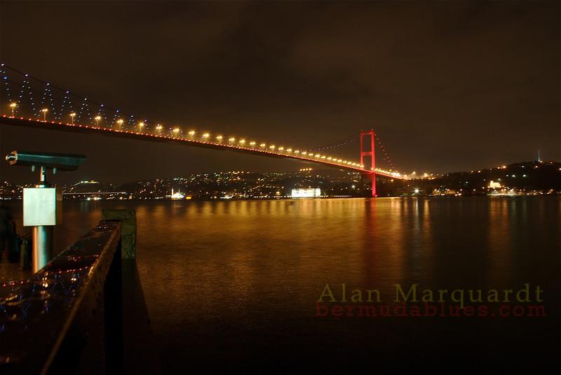 The Bosphorus bridge. Istanbul, Turkey.