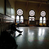 Waiting room at the train station, Istanbul, Turkey.