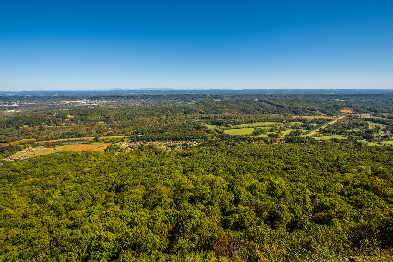 The View from the Rock City Lookout,  GA