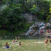 Treman State Park falls