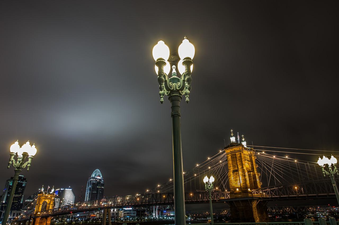 Night City Roebling Suspension Bridge