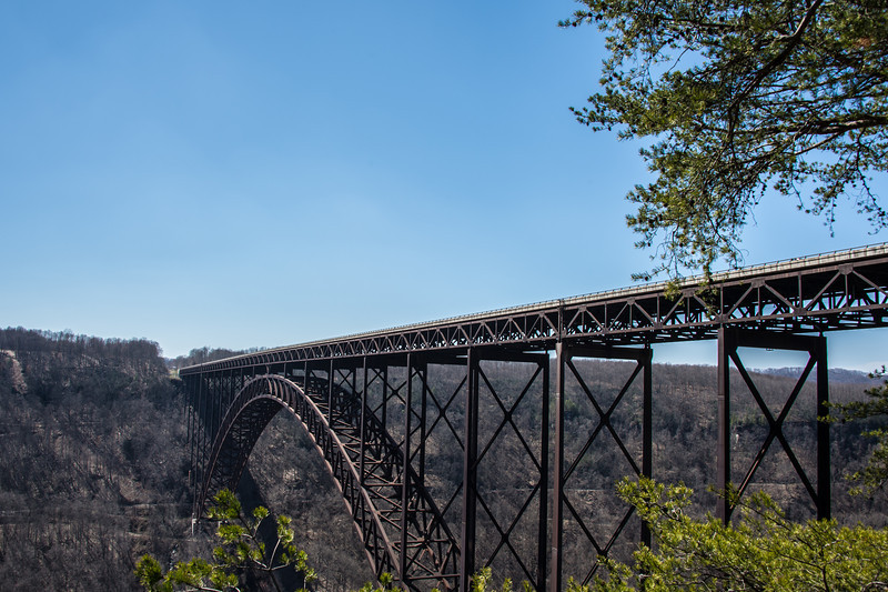 New River Gorge Bridge in winter