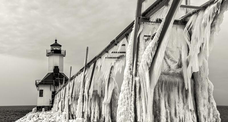 St Joe's Lighthouse #2 (B&W)
