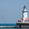 lighthouse in lake michigan - chicago, il