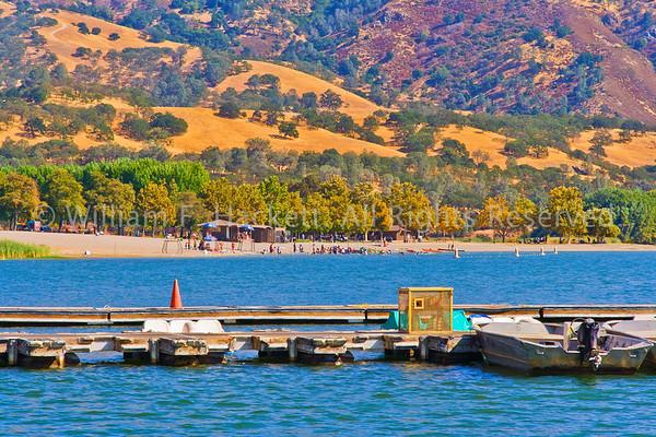 Beach, Lake del Valle2876