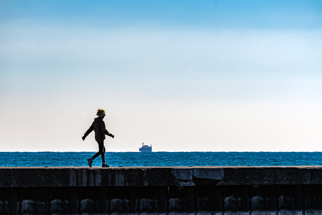 Slice of Life at the Lakefront:  Brisk Walker