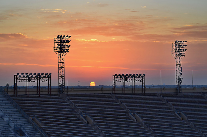 Sunrise over the Cotton Bowl