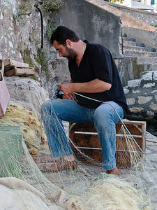 Greek Fisherman, Nafpaktos