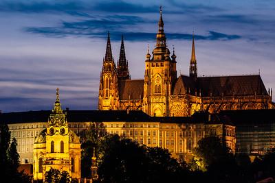 Prague Castle, Dusk