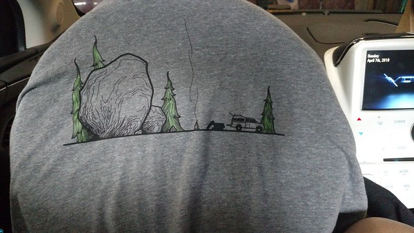 My $10 l.sleeve Front t-shirt, picked up w one just like it 4/7/19 at 9:45 am