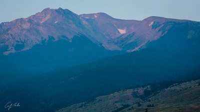 early morning in ynp's high country, right outside the YBI