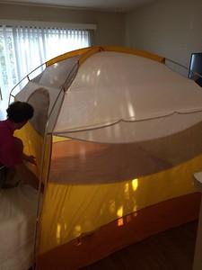Whyatt & Livi are going camping..
