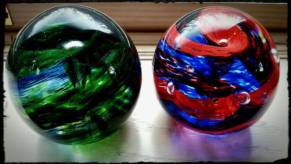 Livi and Wyatt's paper weights, made over winter break at Holdman Studios