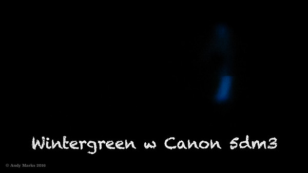 Wintergreen crush scintillation