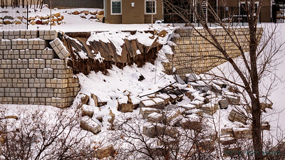 M3.74 earthquake near Bluffdale,UT brought down this wall, 15Feb19