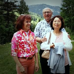 Tammy, John & Teresa Lindow, her cousin and his wife, Snowbird, UT
