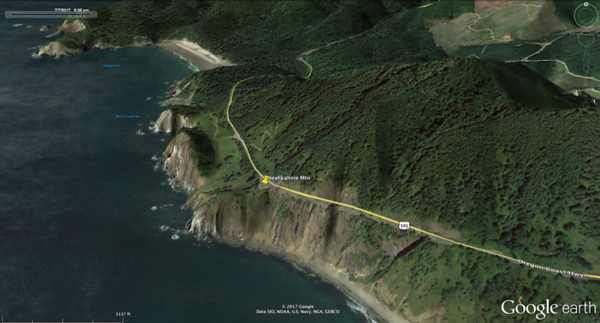 400+ feet above the Pacific, the peak is 1667' above. Outside Manzanita,OR