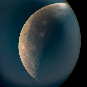 "Morning sky, ""final quarter"" moon shot w Celestron & Moto Turbo Droid"