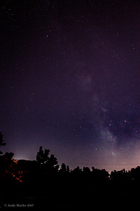 "Milky Way, Granite Park, Sandy, UT 4:20 a.m.; starting on ""lights"""