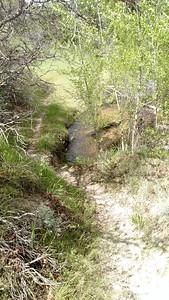 Steep trail down, use low gears