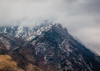 Twin Peaks, gathering snow