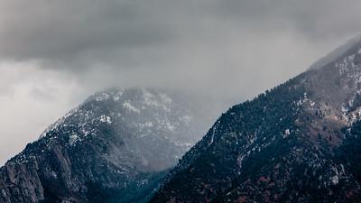 Bells Canyon getting light snow
