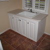 laundry room tiled floor