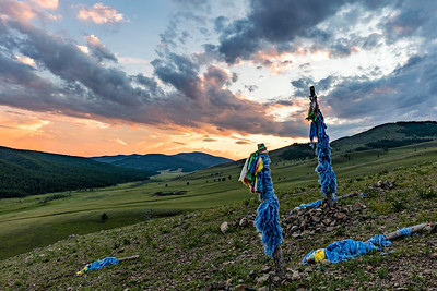 Prayer Flag Sunset