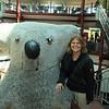 Nikki with the giant stuffed dropbear