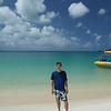 Brad on Whitehaven Beach!