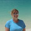 Nikki on Whitehaven Beach. Notice the eye patch... arrrrr!