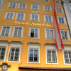 Mozart's birth house. It's now a museum that costs 10 euros per person.