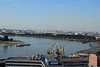 From the top of the MAS, looking at Antwerp's sizable shipping industry.