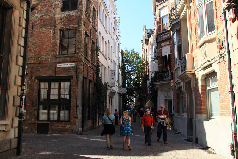 Walking through the streets of Antwerp