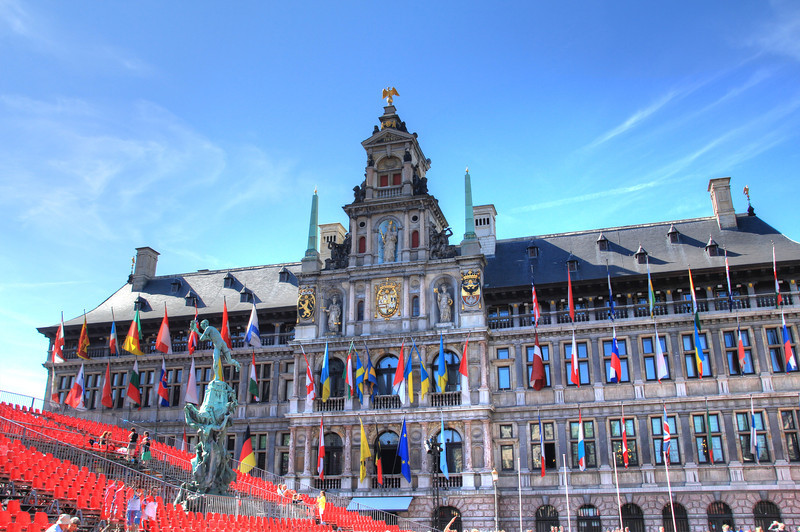City Hall. There were grandstands because it was a holiday--Belgian independence day from the end of World War II.