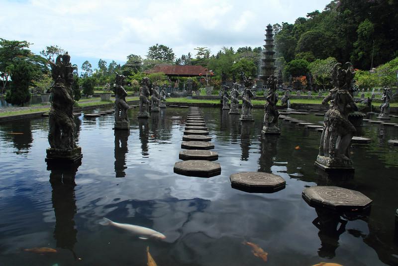 Mahabharata Pond in the Tirta Gangga (water palace)