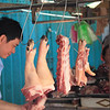 Pig feet at the market