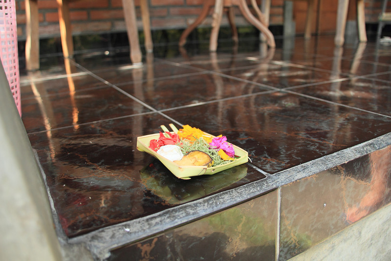 Offerings placed at our place each morning